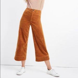Madewell Emmett Wide-Leg Crop Pants Corduroy K1547